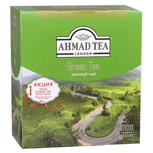 купить Ahmad Green tea 100 пак.