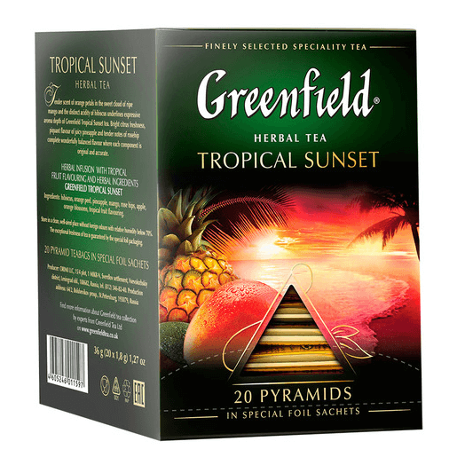 купить Greenfield Tropical Sunset 20 пак.