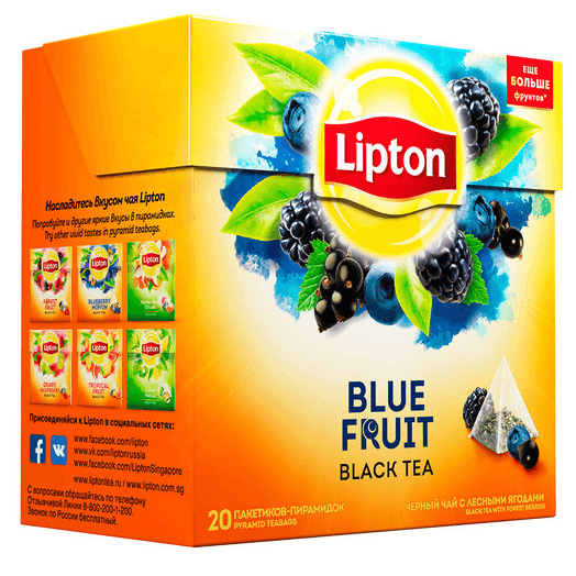 купить Lipton Blue Fruit Tea 20 пак.