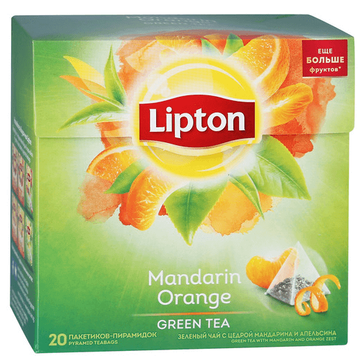 купить Lipton green tea Mandarin Orange 20 пак.