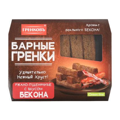 Барные гренки со вкусом бекона 70г