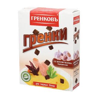 Гренки бородинские со вкусом чеснока 90г