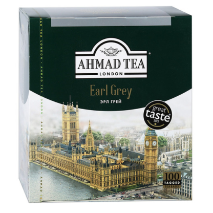 Ahmad Tea Earl Grey 100 пак.