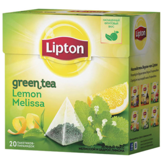 Lipton Lemon Melissa Green Tea 20 пак.